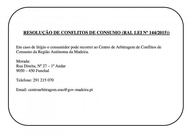 RESOLUÇÃO DE CONFLITOS DE CONSUMO DA MADEIRA